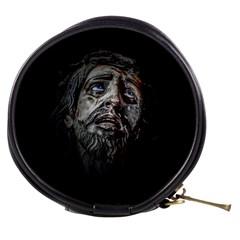Jesuschrist Face Dark Poster Mini Makeup Bags by dflcprints