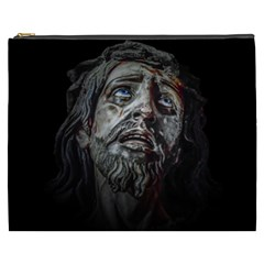 Jesuschrist Face Dark Poster Cosmetic Bag (xxxl)  by dflcprints
