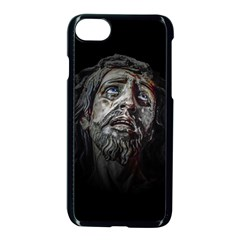 Jesuschrist Face Dark Poster Apple Iphone 8 Seamless Case (black) by dflcprints