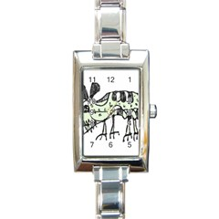 Monster Rat Pencil Drawing Illustration Rectangle Italian Charm Watch by dflcprints
