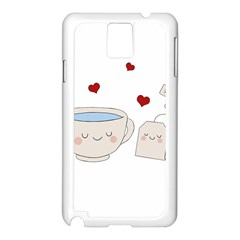 Cute Tea Samsung Galaxy Note 3 N9005 Case (white) by Valentinaart
