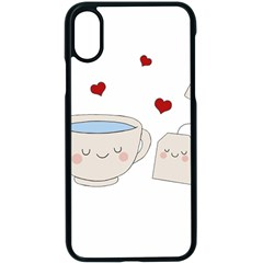 Cute Tea Apple Iphone X Seamless Case (black) by Valentinaart
