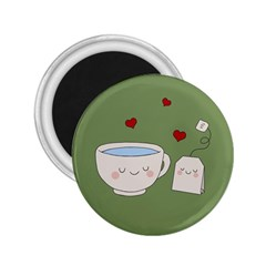 Cute Tea 2 25  Magnets by Valentinaart