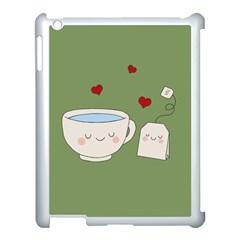 Cute Tea Apple Ipad 3/4 Case (white) by Valentinaart