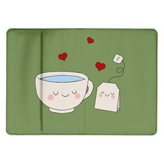 Cute Tea Samsung Galaxy Tab 10 1  P7500 Flip Case by Valentinaart