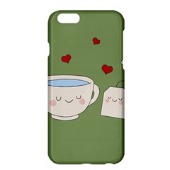 Cute Tea Apple Iphone 6 Plus/6s Plus Hardshell Case by Valentinaart