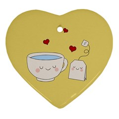 Cute Tea Ornament (heart) by Valentinaart