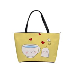 Cute Tea Shoulder Handbags by Valentinaart