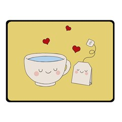 Cute Tea Fleece Blanket (small) by Valentinaart