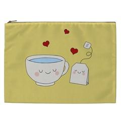 Cute Tea Cosmetic Bag (xxl)  by Valentinaart