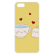 Cute Tea Apple Iphone 5 Seamless Case (white) by Valentinaart