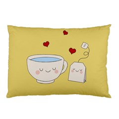 Cute Tea Pillow Case (two Sides) by Valentinaart