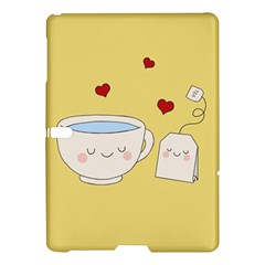 Cute Tea Samsung Galaxy Tab S (10 5 ) Hardshell Case  by Valentinaart