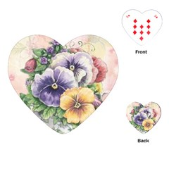 Lowers Pansy Playing Cards (heart)  by vintage2030