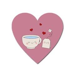 Cute Tea Heart Magnet by Valentinaart