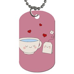 Cute Tea Dog Tag (one Side) by Valentinaart