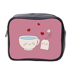 Cute Tea Mini Toiletries Bag 2 Side by Valentinaart