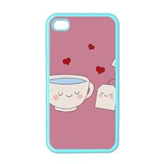Cute Tea Apple Iphone 4 Case (color) by Valentinaart