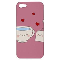 Cute Tea Apple Iphone 5 Hardshell Case by Valentinaart