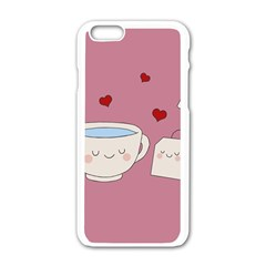 Cute Tea Apple Iphone 6/6s White Enamel Case by Valentinaart