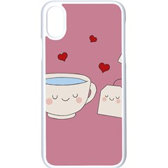 Cute Tea Apple Iphone X Seamless Case (white) by Valentinaart