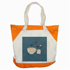 Cute Tea Accent Tote Bag by Valentinaart
