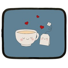 Cute Tea Netbook Case (xl)  by Valentinaart