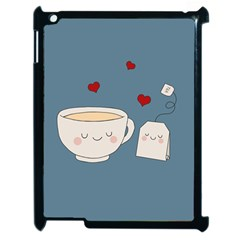 Cute Tea Apple Ipad 2 Case (black) by Valentinaart