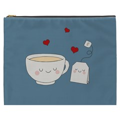 Cute Tea Cosmetic Bag (xxxl)  by Valentinaart