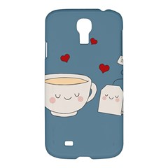 Cute Tea Samsung Galaxy S4 I9500/i9505 Hardshell Case by Valentinaart