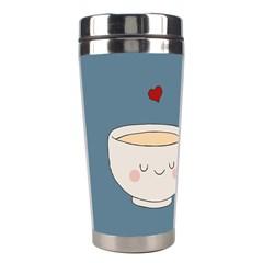 Cute Tea Stainless Steel Travel Tumblers by Valentinaart