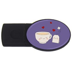 Cute Tea Usb Flash Drive Oval (4 Gb) by Valentinaart