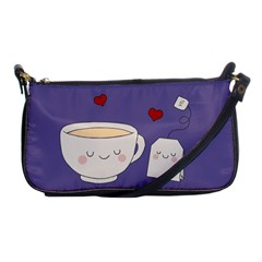 Cute Tea Shoulder Clutch Bags by Valentinaart