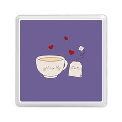 Cute Tea Memory Card Reader (square)  by Valentinaart