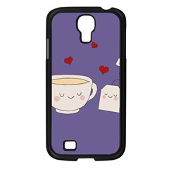 Cute Tea Samsung Galaxy S4 I9500/ I9505 Case (black) by Valentinaart