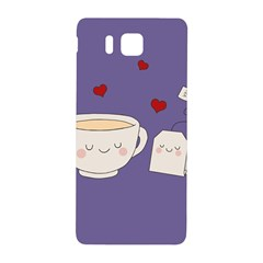 Cute Tea Samsung Galaxy Alpha Hardshell Back Case by Valentinaart