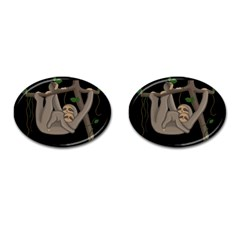 Cute Sloth Cufflinks (oval) by Valentinaart