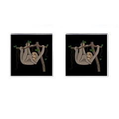 Cute Sloth Cufflinks (square) by Valentinaart