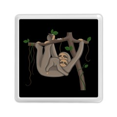 Cute Sloth Memory Card Reader (square)  by Valentinaart