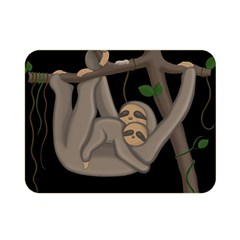 Cute Sloth Double Sided Flano Blanket (mini)  by Valentinaart