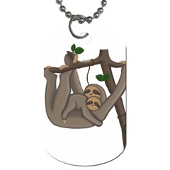 Cute Sloth Dog Tag (two Sides) by Valentinaart
