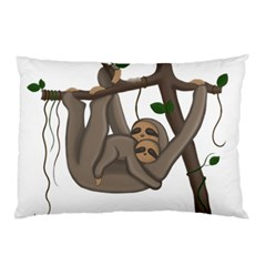 Cute Sloth Pillow Case by Valentinaart