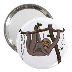 Cute Sloth 3  Handbag Mirrors by Valentinaart