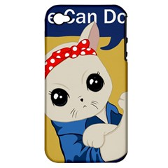 Feminist Cat Apple Iphone 4/4s Hardshell Case (pc+silicone) by Valentinaart