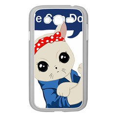 Feminist Cat Samsung Galaxy Grand Duos I9082 Case (white) by Valentinaart