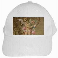Cupid   Vintage White Cap by Valentinaart
