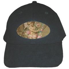 Cupid   Vintage Black Cap by Valentinaart