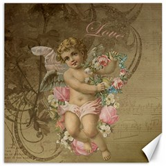 Cupid   Vintage Canvas 16  X 16   by Valentinaart