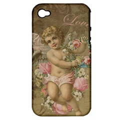 Cupid   Vintage Apple Iphone 4/4s Hardshell Case (pc+silicone) by Valentinaart