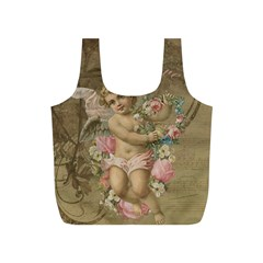 Cupid   Vintage Full Print Recycle Bags (s)  by Valentinaart